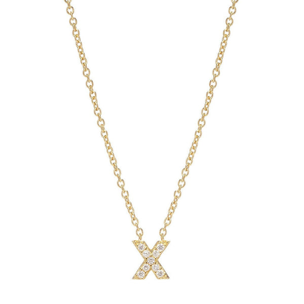 GOLD INITIAL NECKLACE - Sugar Bean Jewelry - 23