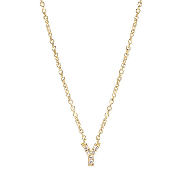 GOLD INITIAL NECKLACE - Sugar Bean Jewelry - 24