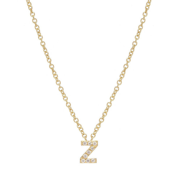 GOLD INITIAL NECKLACE - Sugar Bean Jewelry - 25