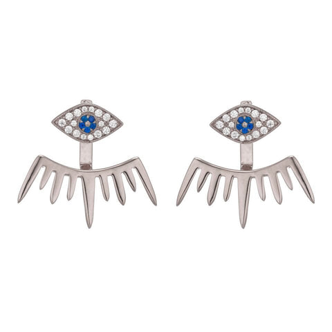 CLEO EVIL EYE EARRINGS - Sugar Bean Jewelry - 1