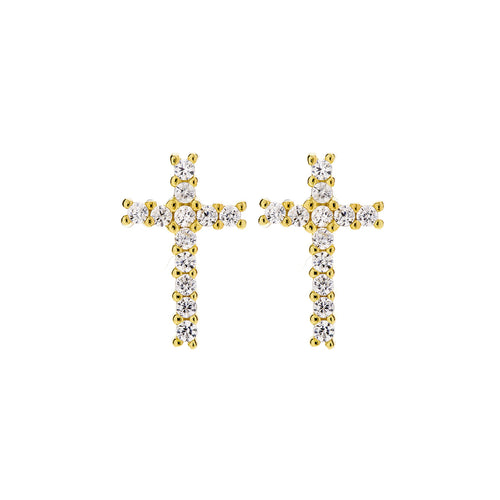 CLASSIC CROSS STUD EARRINGS