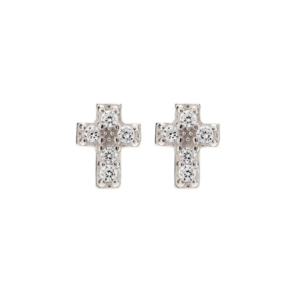 MINI CROSS STUDS - Sugar Bean Jewelry - 1