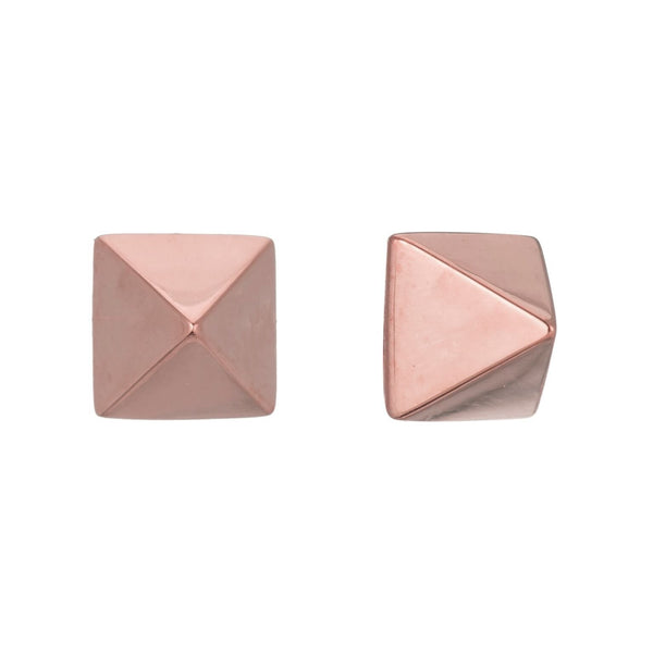 TAILORED PYRAMID STUD EARRINGS - Sugar Bean Jewelry - 3