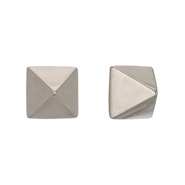 TAILORED PYRAMID STUD EARRINGS - Sugar Bean Jewelry - 2