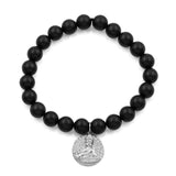 BUDDHA STERLING STRETCH BRACELET