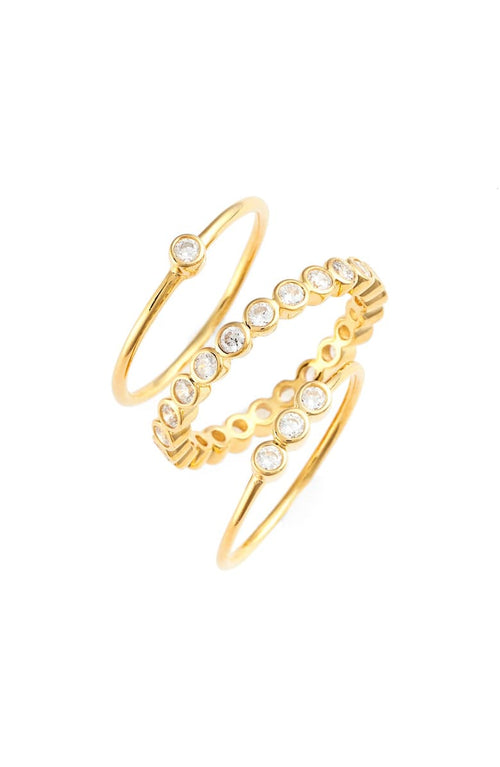 NORDSTROM ABBY STACK RINGS GOLD