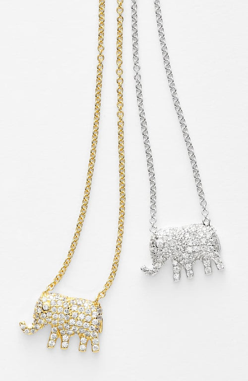 NORDSTROM ELEPHANT PENDANT NECKLACE