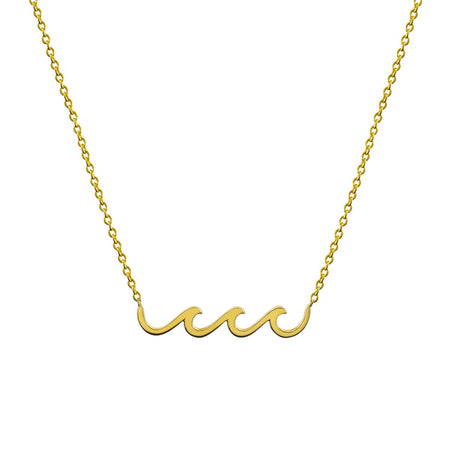 JUST BE YOU GOLD INITIAL NECKLACE