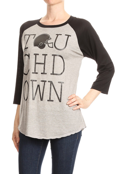 LW#3390 TOUCHDOWN- LIGHT GREY/HEATHER BLACK