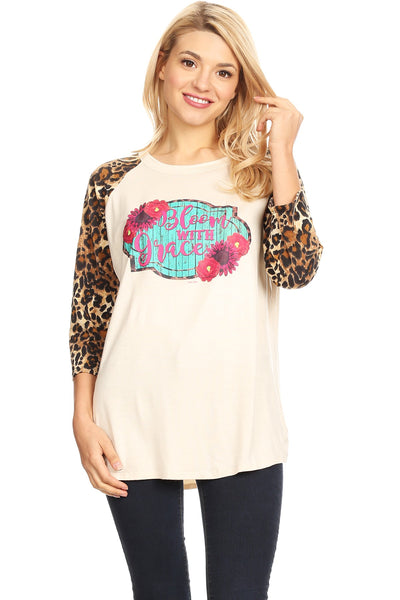 856 Blossom Wit - Cream/Leopard