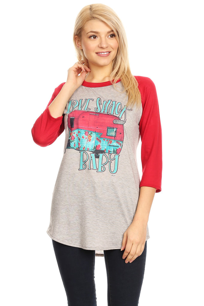 856 LOVE SHACK Grey/Red
