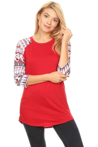 856 SANTA SLEEVE - Red