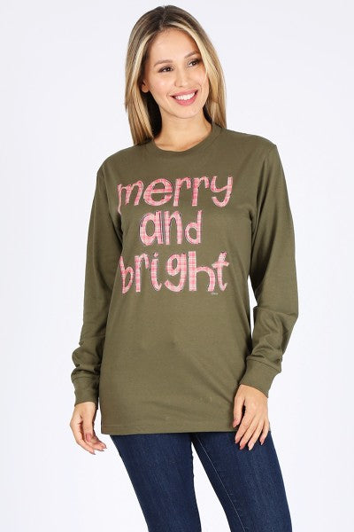 CH LS MERRY AND BRIGHT- HEATHER OLIVE