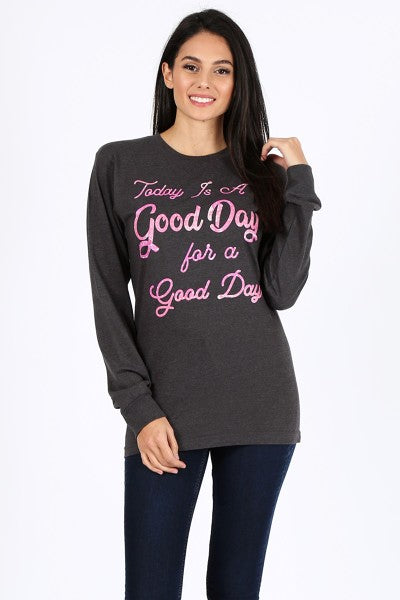 CH LS GOOD DAY- CHARCOAL