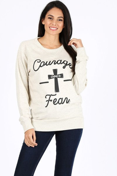 LBL SWEAT COURAGE OVER FEAR- CREAM