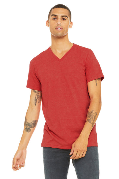 Bella Canvas V-Neck  - Heather Red