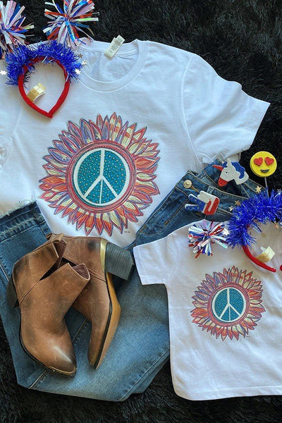 BC USA PEACE - WHITE