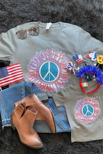 BC USA PEACE - GREY
