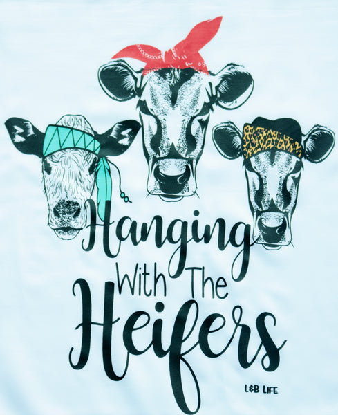 Hanging with the heifers