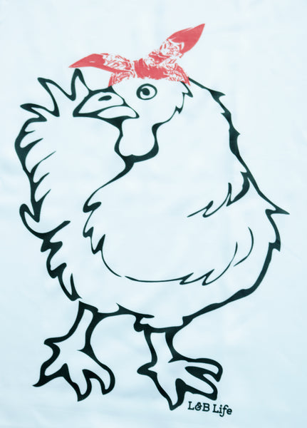 Chicken with red bandana