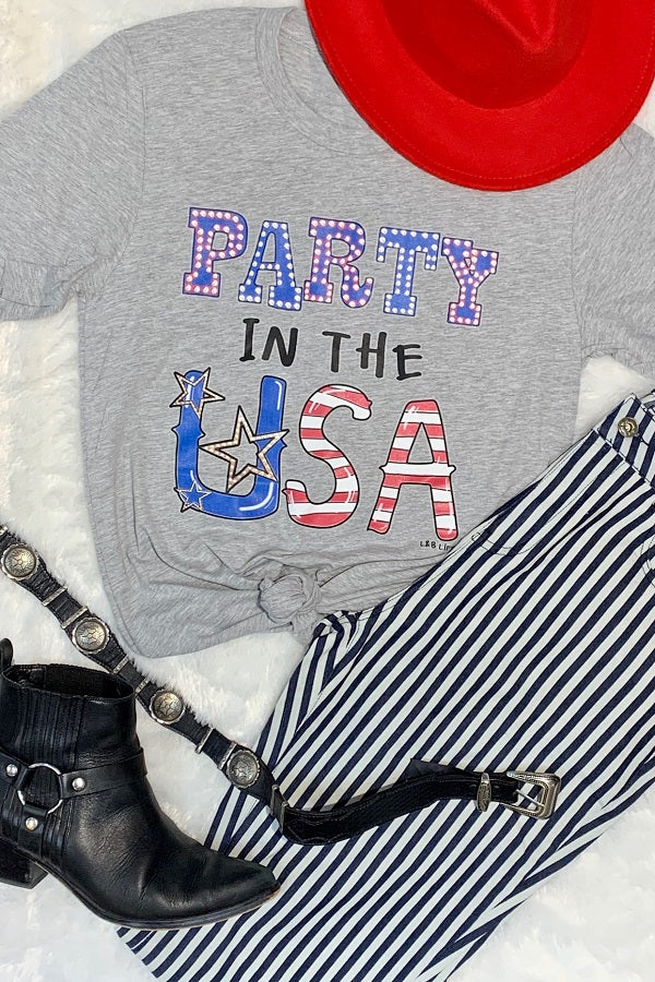 Bc Party In the USA- Light Grey
