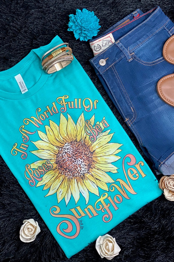 Bella Sunflower - Turquoise pre order (02-16-2021)