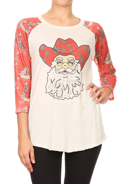 LW#3425 COUNTRY SANTA- CREAM/RED
