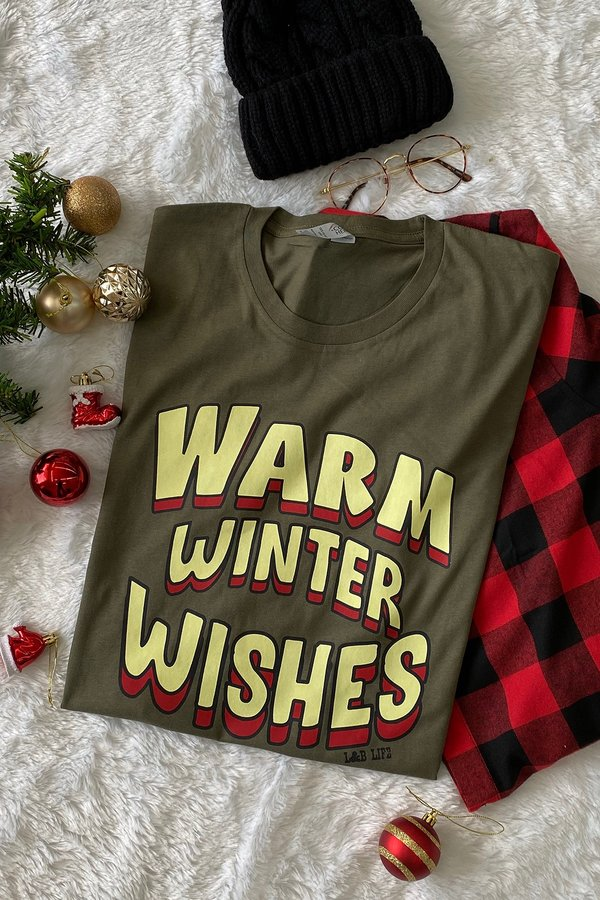 BC WARM WINTER WISHES - OLIVE