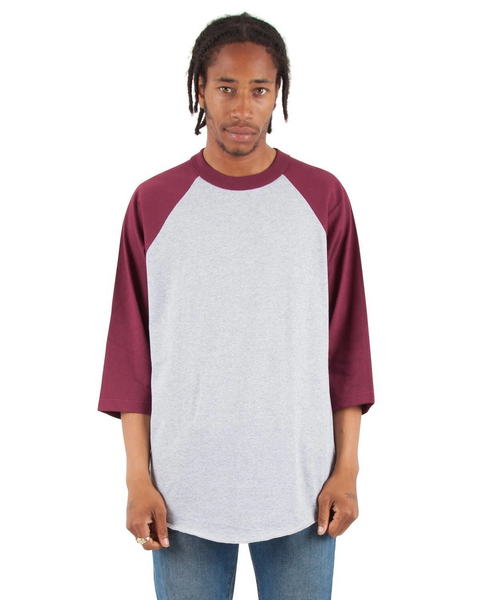 Shaka - Heather grey and Burgundy