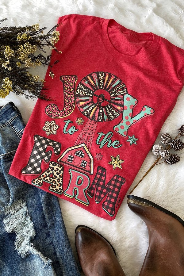 CH JOY TO THE-heather red ( PRE-ORDER 11-16-20 )