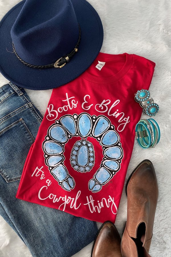 BC BOOTS AND BLING  - HEATHER RED PRE-ORDER 1/21/21