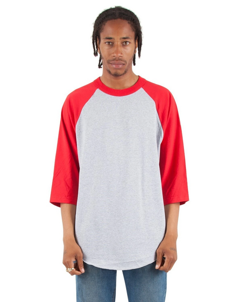 Shaka - Heather grey and Red