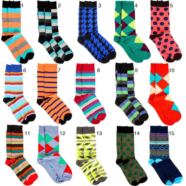 Mens Designer Fashion Dress Socks New Argyle Color