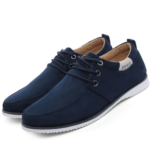 Men Shoes 2015 New Suede Leather Flat Men's Fashion Sneakers Casual Solid Male Footwear For Men Sneakers Zapatos Hombre RMD-132