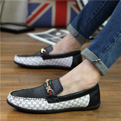 2016 Luxury Men Loafers Brand Fashion Men's Flats Leather Shoes espadrilles Designer Driving Shoes flats italian men Boat shoes