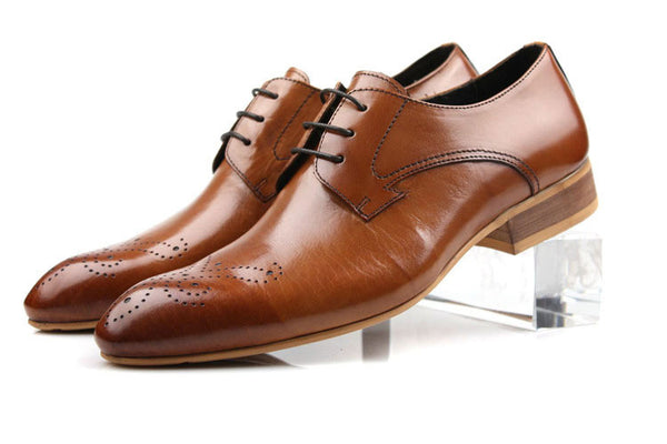High quality men dress shoes genuine leather flats for men business office breathable z159