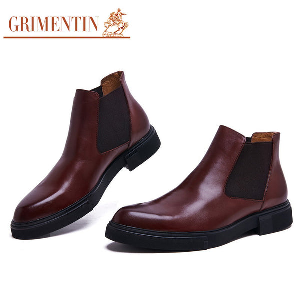 2015 classic vintage Mens dress boots genuine leather men shoes for business size:6-10  #608