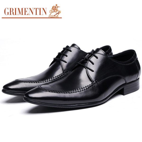 2016 Italy designer wedding mens dress shoes genuine leather black brown luxury casual shoes men flats for male business office