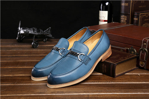 GRIMENTIN Fashion retro genuine leather mens casual shoes sales outdoor business designer shoes men flats