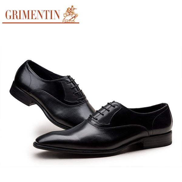 2016 new style Italy designer mens dress shoes real leather top quality round toe lace up oxfords men shoe basic flats z602