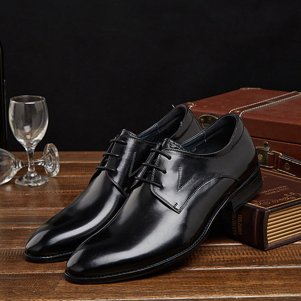 GRIMENTIN 2015 classic business fashion black brown lace-up full grain leather men shoes formal flats footwear size:6-10
