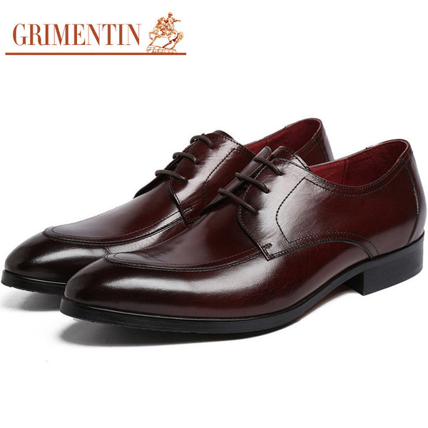2015 luxury top grade dress mens shoes leather lace up basic flats for men business wedding size:6-10 #690
