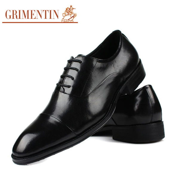 2015 European classic mens casual shoes genuine leather black brown cap toe basic flats for men business size:6-10 #701
