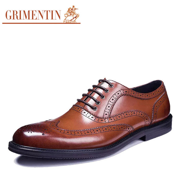 2016 British fashion mens dress shoes genuine leather lace up designer wingtip carved oxfords shoes men flats for business