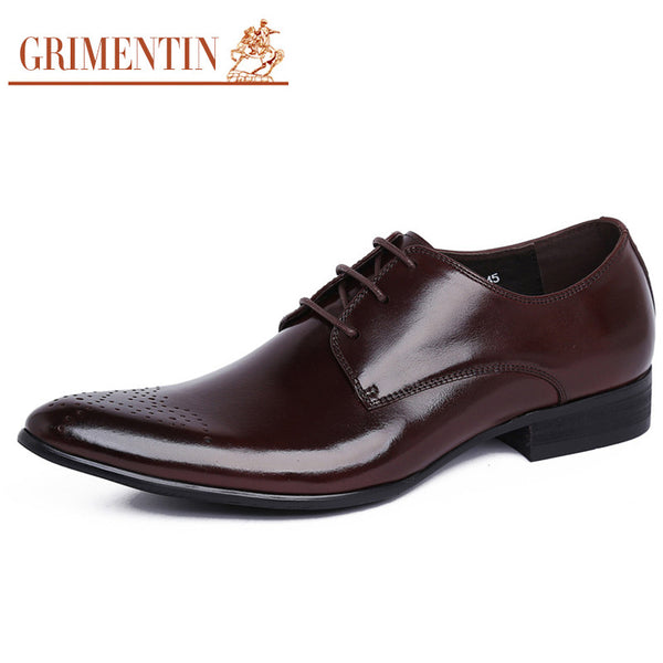 2016 new style Italian designer men dress shoes genuine leather classic carved luxury brand formal mens shoe basic flats z515