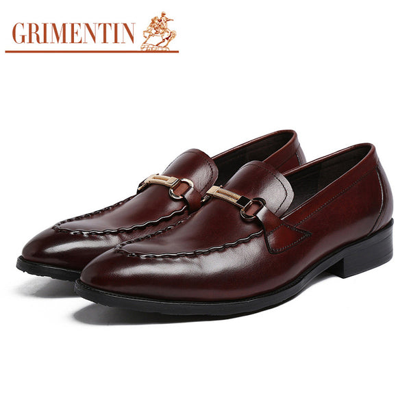2016 Italian luxury fashion genuine leather mens dress shoes sales black brown slip on designer shoes men flats for wedding 2016
