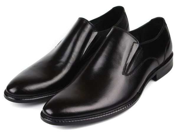 2015 Italian fashion mens dress shoes genuine leather black brown slip on basic flats for men office business size:6-10 #761