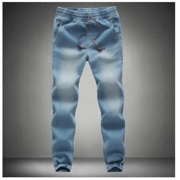 Closing leg jeans spring 2016 new fashion male taxi fertilizer XL elastic stretch pants feet pants tide beam