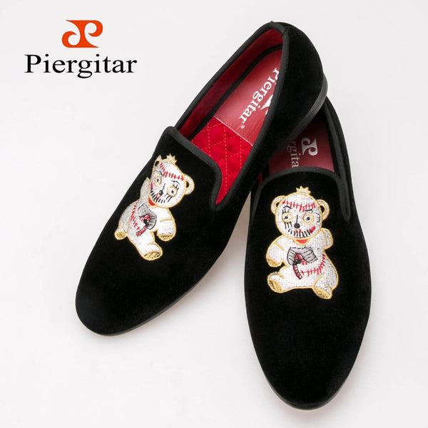 Free Shipping Sale Package Men Velvet Slippers Flat Shoes with Embroidery  loafers