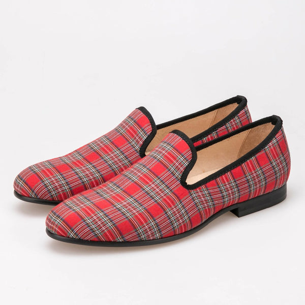 New style fashion handmade high grade cloth pig leather lining and insore duarable red rubber sole casual shoes